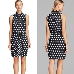 Michael MICHAEL Kors Navy Polka Dot dress - Sz 00